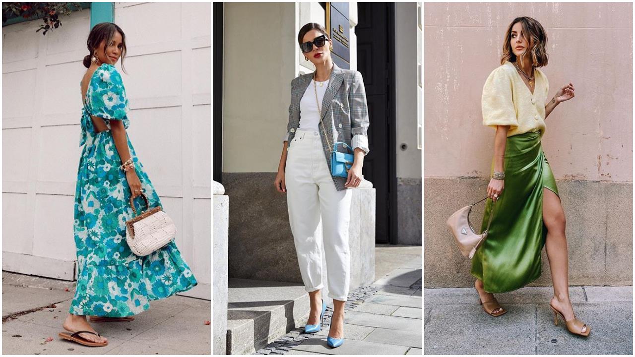 10 looks con vestidos, pantalones y faldas que resumen TODAS las tendencias del momento (superfáciles de llevar)